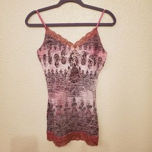 Maurices tank top with lace trim